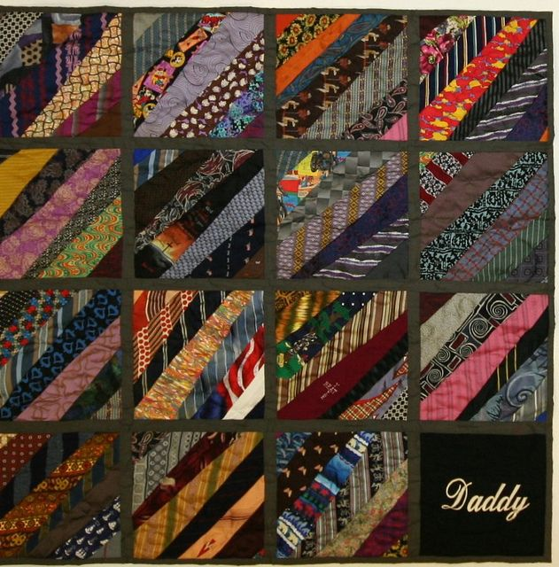 tie quilt, for when dad decides to downsize his 100+ tie collection