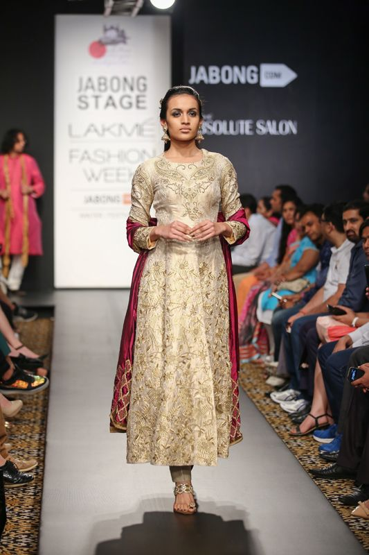 Anarkali by Harshitaa Chaterjee Despande at Lakme Fashion Week 2014