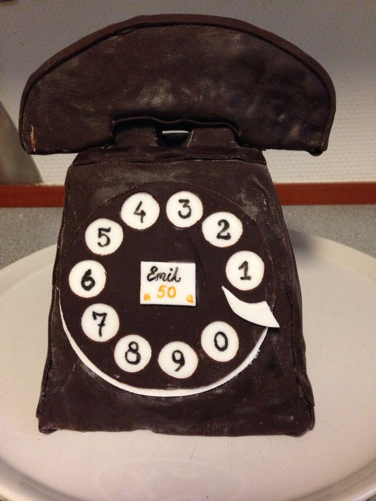 Telefonkage til telemontør