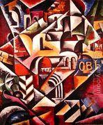 Cubist cityscape, 1914  by Lyubov Popova