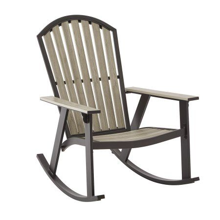 mainstays springview hills resin outdoor adirondack rocking chair rh pinterest com