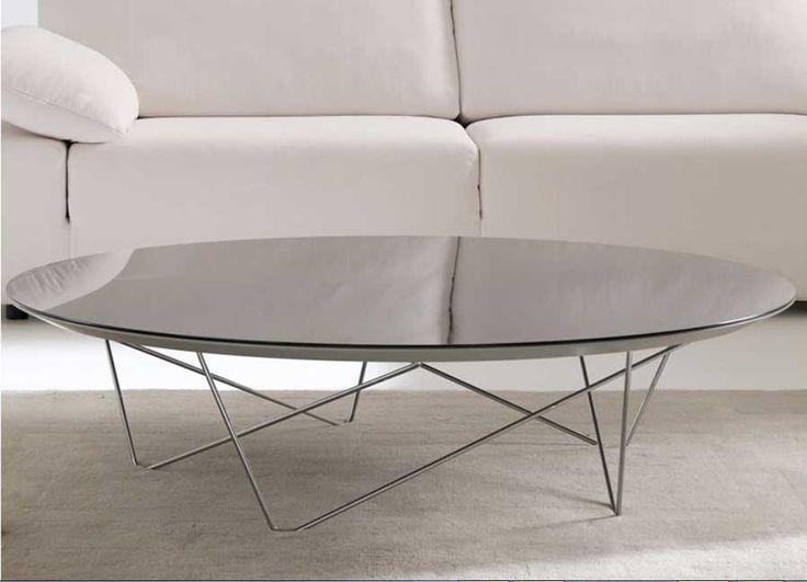 Couchtisch Glas Oval Mit Material Tischbeinen Aus Lackierten Metall Oder Poliertem Chrom Fur Moderne Couchtische Ideen