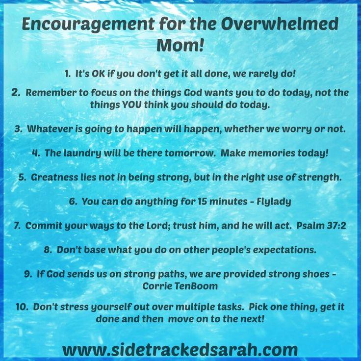 Encouragement for the Overwhelmed Mom