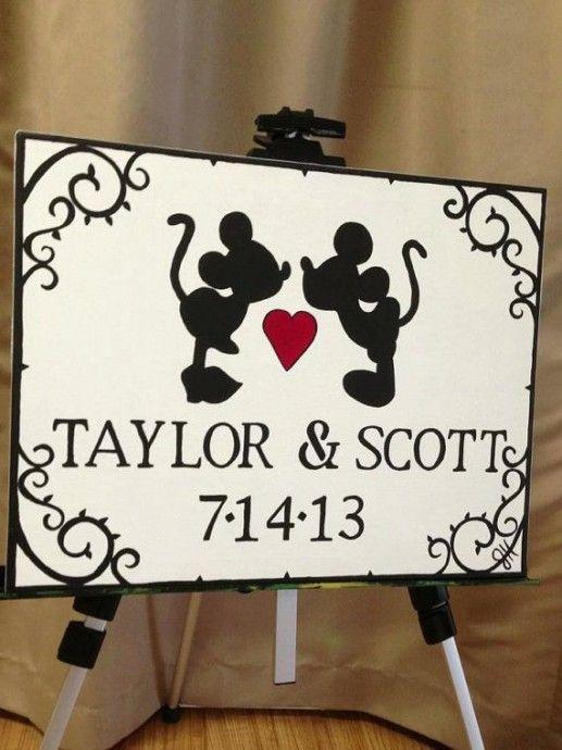 thème Disney – wedding planner 77- décoratrice 77 -pancarte