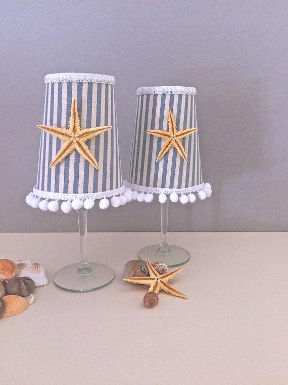 Starfish fabric trimmings Candle Holder Lighting by GamesOfLight
