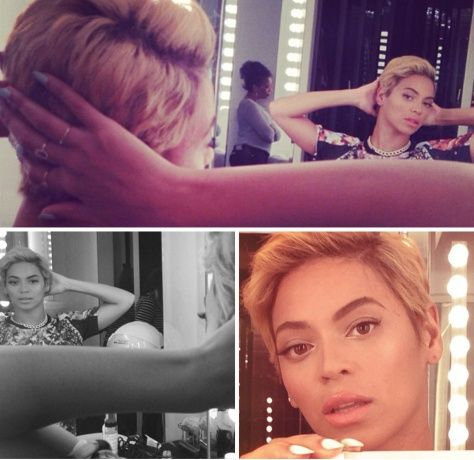 Beyonce's new cropped hair.