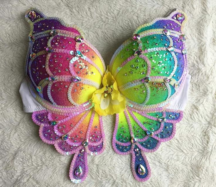 """Neon rainbow butterfly bra rave outfit inspiration festival fashion EDC outfits plur plurmaid glitter sequin pastel  146 Likes, 15 Comments -  thebouncingbunny  (@the.bouncing.bunny) on Instagram: """" Love this shot @plurprncss took of her Rainbow butterfly bra! Snag one for your next festival by…"""""""