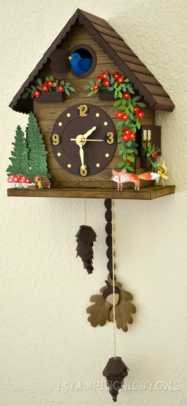 1stampingnightowl: Event Display Stamper Application - Paper Swiss Cuckoo clock - it works! More pictures and closeups of details in post.: