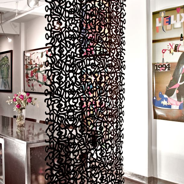 17 best images about room dividers on pinterest hanging curtains modern room and ikea room - Hanging room divider curtains ...