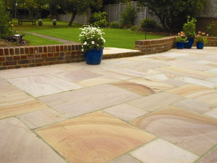 The 10 best images about indian sandstone paving on for Patio garden designs paving