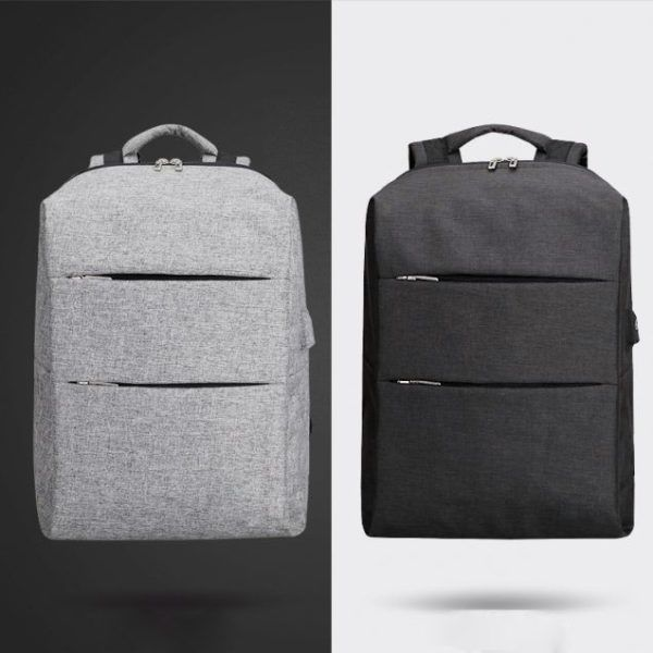 Back Pack Smart Laptop Backpack USB Charging with Built-In Battery Canvas Bag