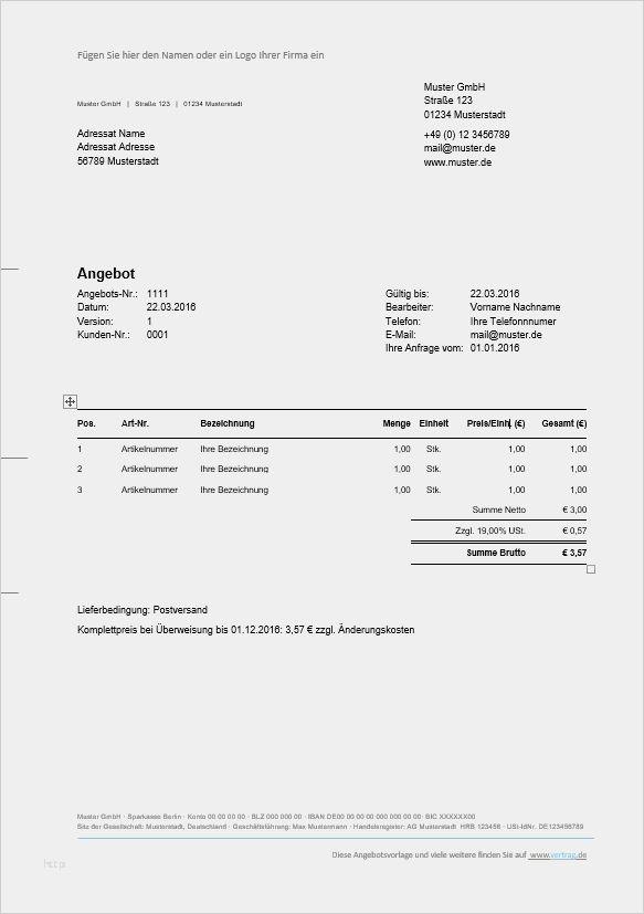 Angebotsvorlagen Und Angebotsmuster Kostenlos I Weclapp Com