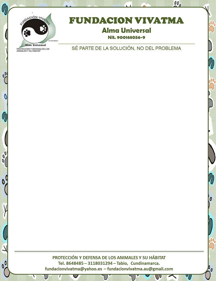 Diseño de plantilla personalizada para documentos y correspondencia. -Para FUNDACION VIVATMA