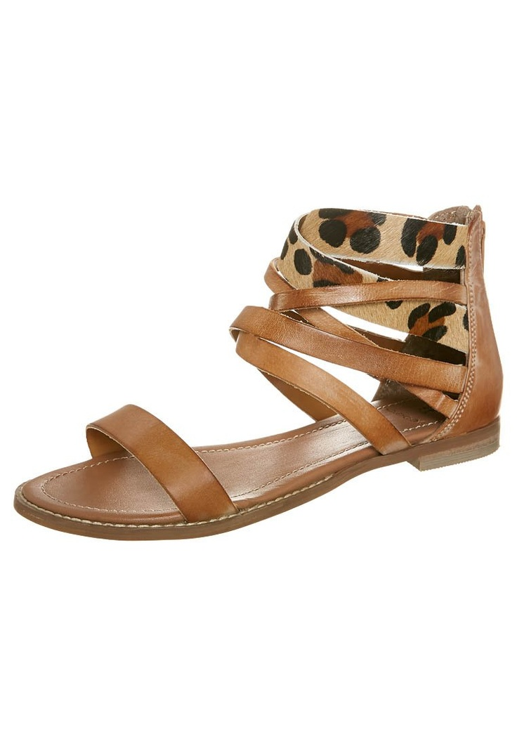 Sandals with a splash of animal print.