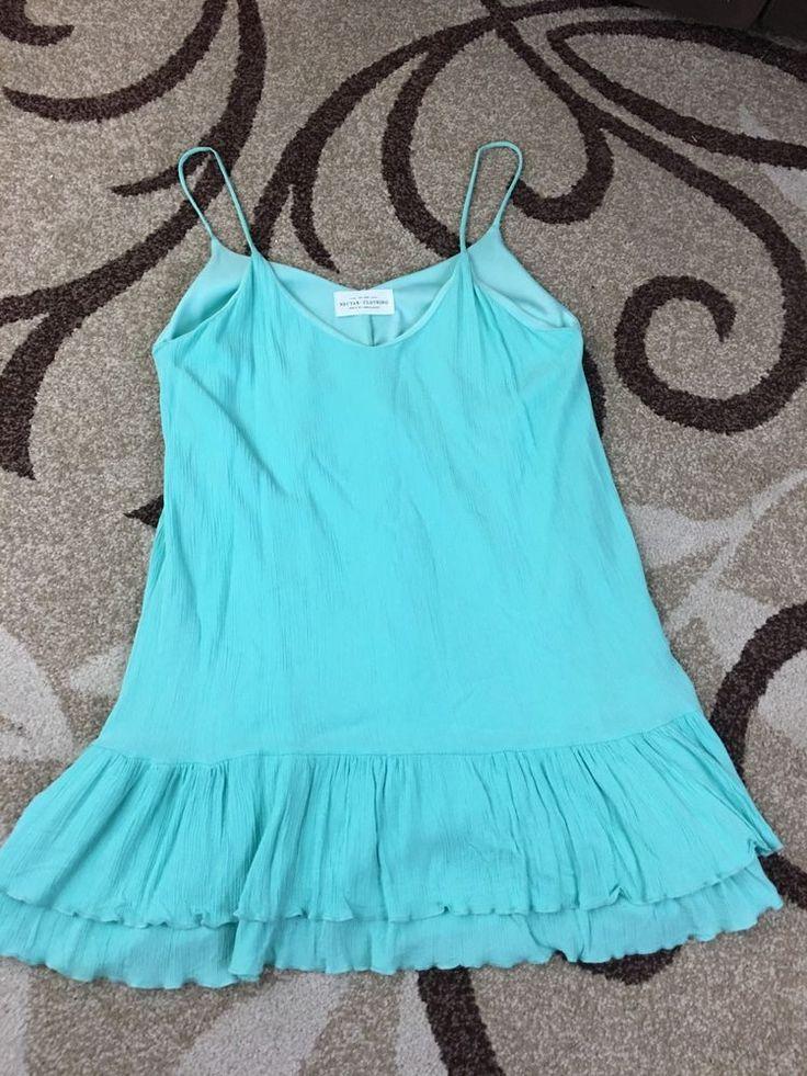 Women's Flare Dress Sea foam Green Nectar Clothing Size M #NectarClothing