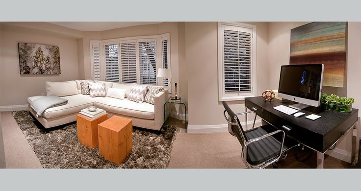 Fia Interiors - Turn a second floor bedroom into a den and office.