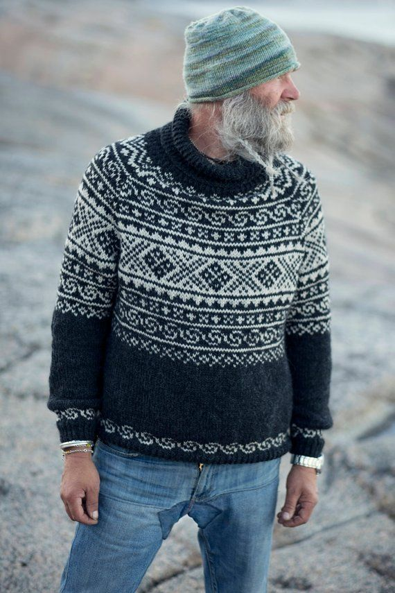 Knitting Pattern Beautiful Norwegian Setesdals Sweater Etsy Men Sweaters Pattern Sweater Pattern Norwegian Sweater
