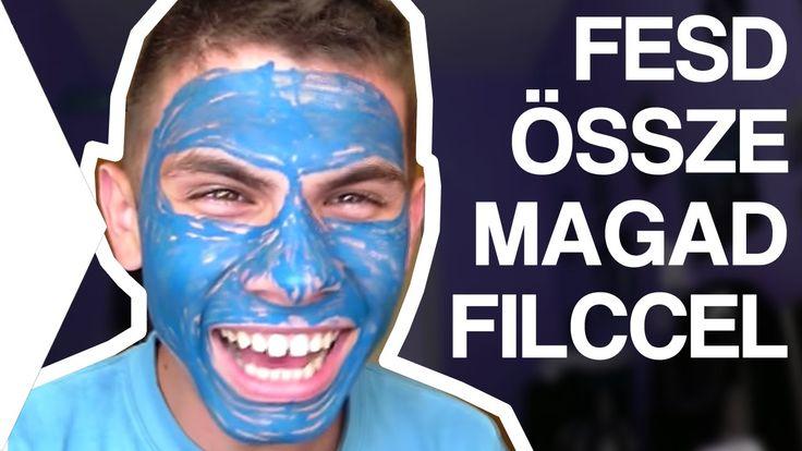 Kihívás:Fesd össze az egész arcod filccel