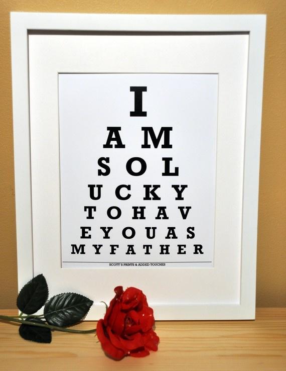 Eye chart fun.