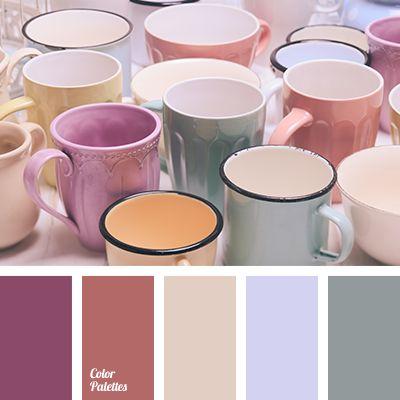 """""""dusty"""" lilac color, """"dusty"""" pink color, beige color, brick-red color, color interior design, dark pink color, gentle pastel shades, gray color, grey-green color, lilac color, violet-blue color."""