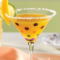 Fresh Mango Margaritas    Using fresh mangoes is worth the extra effort for these drinks. Ingredients: 2   large mangoes, peeled and cut into wedges (see Cook's Tip) 1/4  cup (50 mL) sugar 1/4  cup (50 mL) water 1/2  cup (125 mL) mango nectar, plus additional if needed 4   limes, divided 1  tbsp (15 mL) coarsely ground Coarse Sea & Himalayan Salt (optional) 1 1/2  cups (375 mL) ice cubes, divided 2  oz (60 g) tequila, divided    Mango and lime slices…