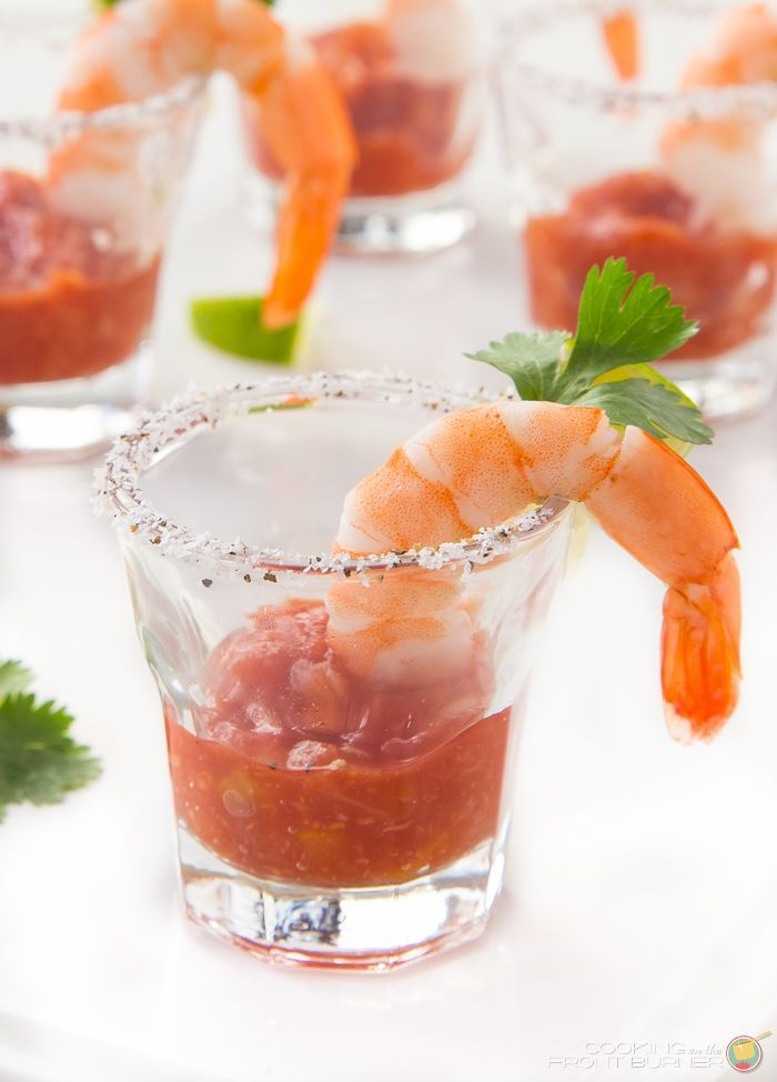 Shrimp Cocktail shooters are sure to be a hit at your next party ...