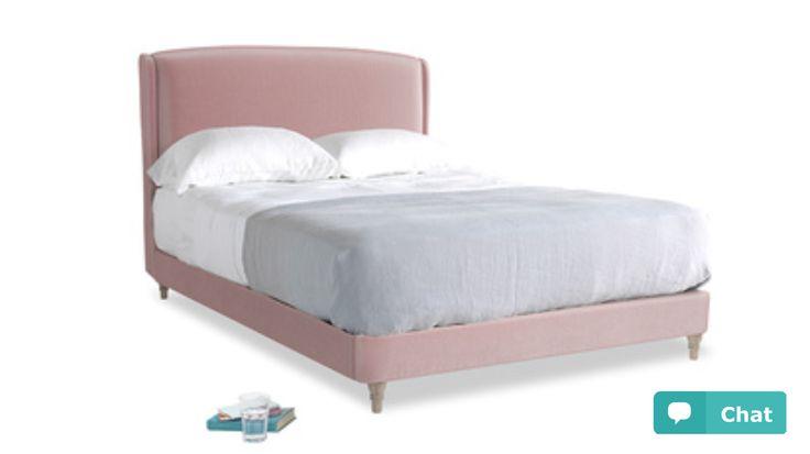 Dazzler bed - loaf - chalky pink vintage velvet
