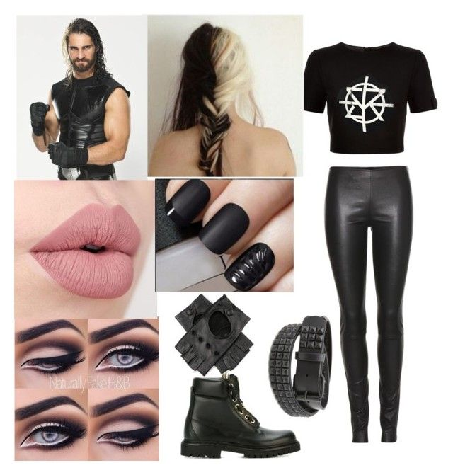 Seth Rollins Genderbend by queenerykah18 on Polyvore featuring Ted Baker, The Row, Balmain, Black and WWE