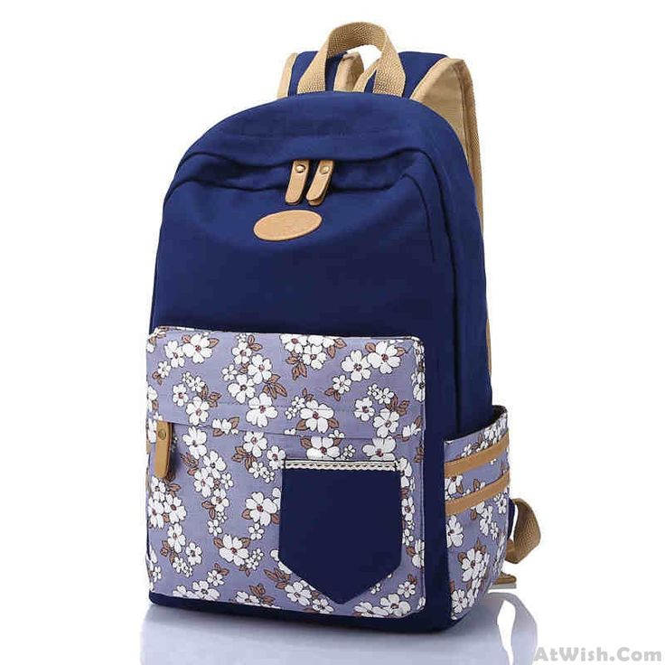 Wow~ Awesome Fresh Floral Flowers Pattern Lace Pocket Travel Bag Computer Backpack School Rucksack! It only $33.99 at www.AtWish.com! I like it so much<3<3!
