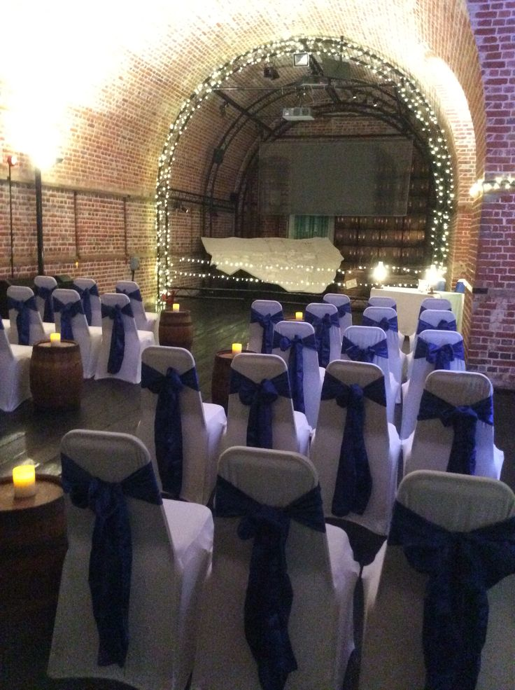 Blue satin sashes for the Frames Wedding in the Grand Magazine @explosionmuseum @explosionmus in gosport
