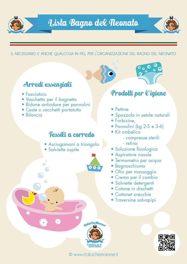 Lista delle cose necessarie per il cambio e bagnetto del bambino