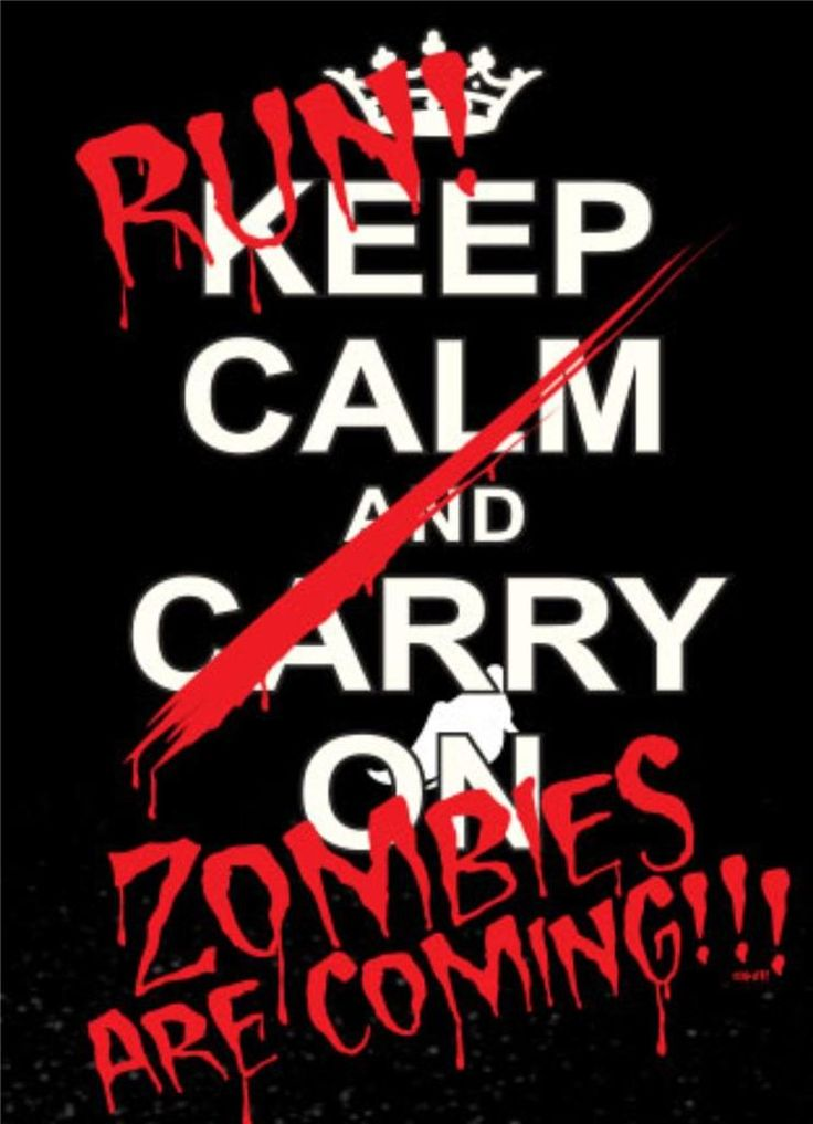 RUN-ZOMBIES-ARE-COMING-KEEP-CALM-AND-CARRY-ON-Zombie-Adult-T-Shirt-SM-To-5XL