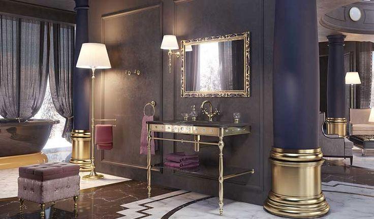 """Il design raffinato ed il valore dei materiali crea la stanza da bagno, l'atmosfera calda di un salotto intimo in cui assaporare un """"elegante relax""""."""