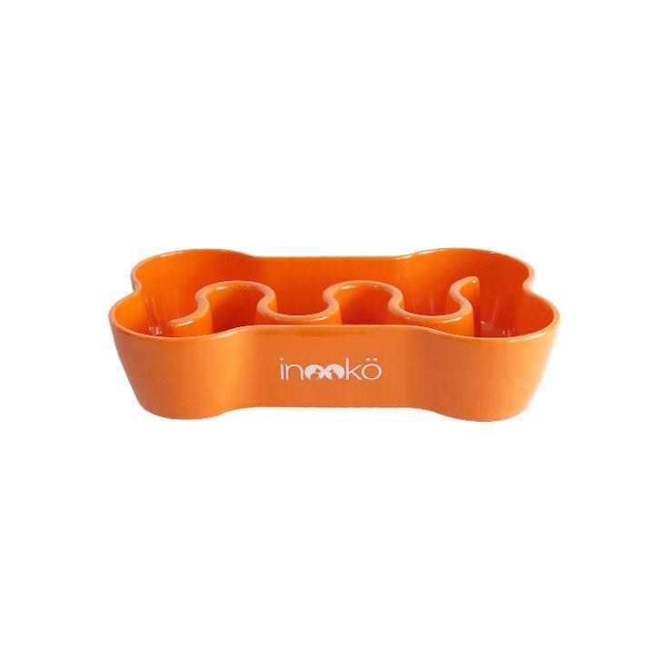 Gamelle anti-glouton orange