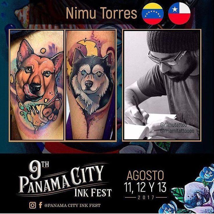 Repost @panamacityinkfest :// Nimu Torres @nimutattoo por primera vez en Panama! Muy estar compartiendo stand con nuestro gran amigo el talentoso artista @castillotattoo . Para citas puedes escribirle a su inbox o a @miamitattooco . Bienvenido Nimu! Gracias a el equipo de @miamitattooco por permitirme estar con ellos en este evento  EL PANAMÁ CITY INK FEST 2017 se llevará a cabo en el mes de Agosto los días Viernes 11 Sábado 12 y Domingo 13. Desde las 12.PM hasta las 10.PM. SEDE: Hotel RIU…