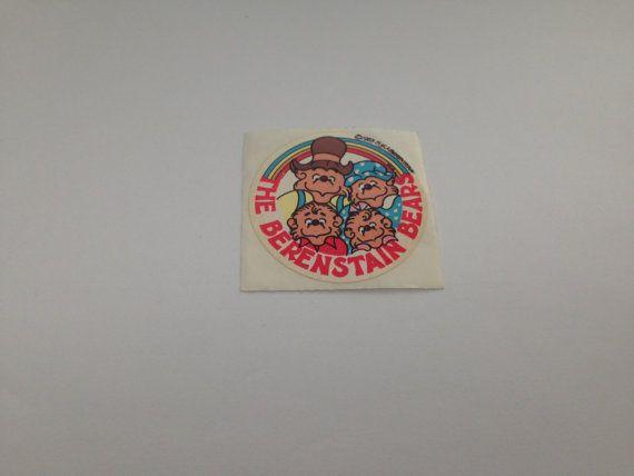 Vintage 80s Berenstain Bears Family  Sticker
