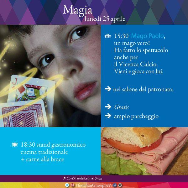 15:30 Mago Paolo incanterà con il suo Spettacolo di Magia. Vieni e diventa protagonista dello spettacolo. nel salone del patronato, Gratis, ampio parcheggio. #festaSanGiuseppeVi