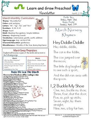 10 best images about preschool newsletter on pinterest for Free april newsletter template
