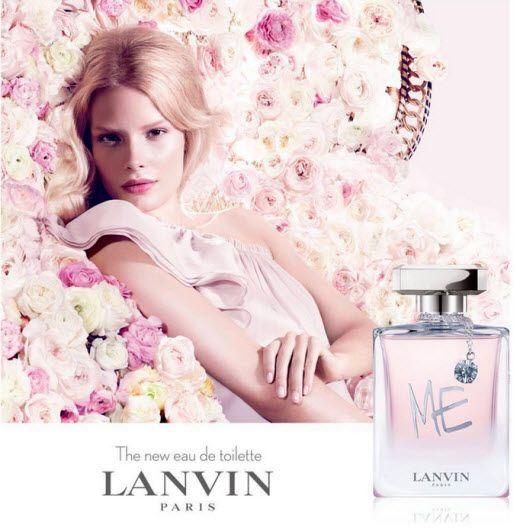 Alena Blohm is the face of the Lanvin Me L'Eau Fragrance