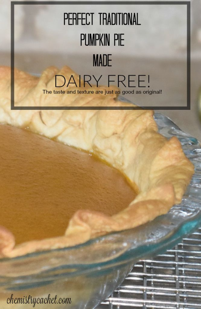 Dairy free pumpkin pie that turns out perfect and tastes just as good as original! Perfect for anyone with dairy allergies on chemistrycachet.com