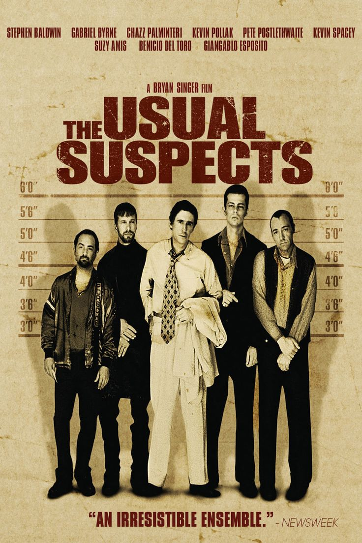 The Usual Suspects (1995) a great film that had me guessing until the final minutes