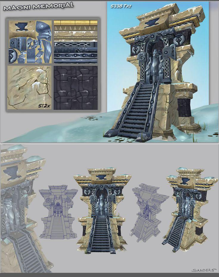 Magni Bronzebeard Memorial - 3D by Neolight.deviantart.com on @deviantART