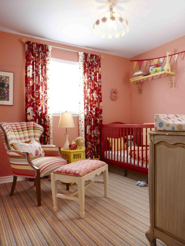 Sara Richardson on HGTV is my favorite designer...she styled this baby's room and I think it's great