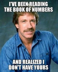 book of numbers mormon pick up line