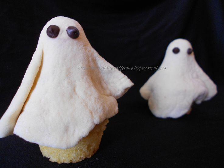 Cupcakes fantasmi di halloween