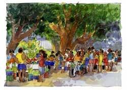 Rarotonga, Market on Saturday Morning