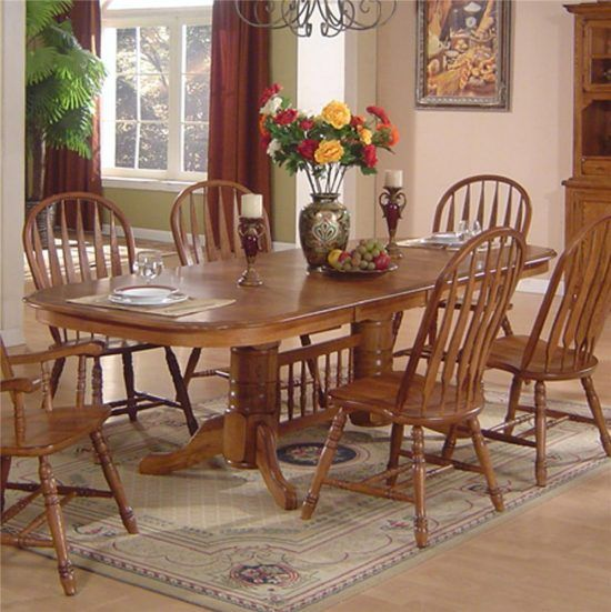 The 25 Best Ideas About Oak Dining Sets On Pinterest Oak Dining Room Set