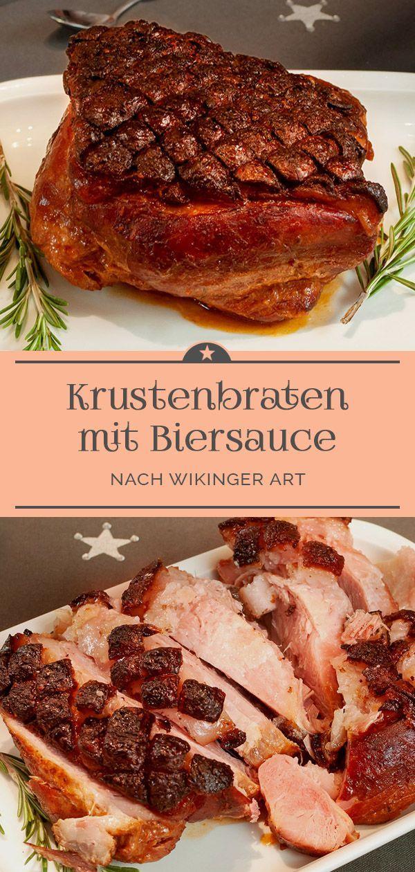 """Schweinekrustenbraten """"Wikinger Art"""" mit Biersauce"""