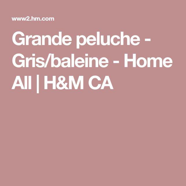 Grande peluche - Gris/baleine - Home All | H&M CA