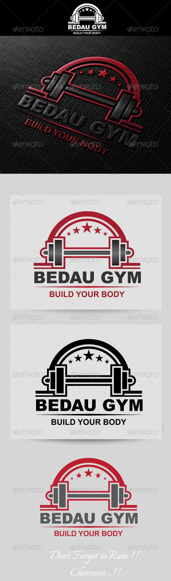 Fitness / Gym Logo Template  #GraphicRiver         This file contains 6 Ai Files, 6 EPS files and 1 cdr file. Plus 1 read me file in the .zip file.You can use this logo to all condition because background of this logo can be change like you want.     Created: 15May13 GraphicsFilesIncluded: VectorEPS